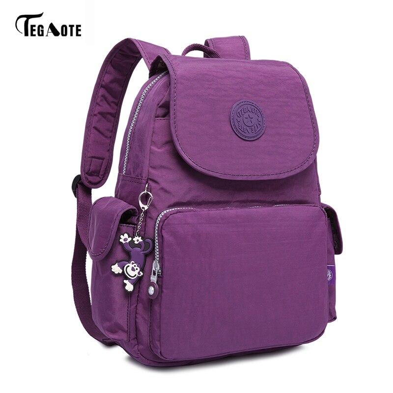 TEGAOTE Fashion School Backpack for Teenage Girls Waterproof Laptop Schoolbag Women Mini Classic Bagpack for School Travel Bag цена