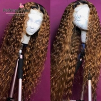Preferred Curly Human Hair Wig Brazilian Remy Hair Ombre Lace Front Wig Preplucked Glueless Full Lace Wigs For Black Women