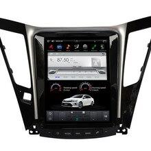 """10,"""" Тесла Стиль Android 7,1 автомобильный мультимедийный плеер gps навигации для hyundai Sonata 2012- с радио BT USB стерео"""