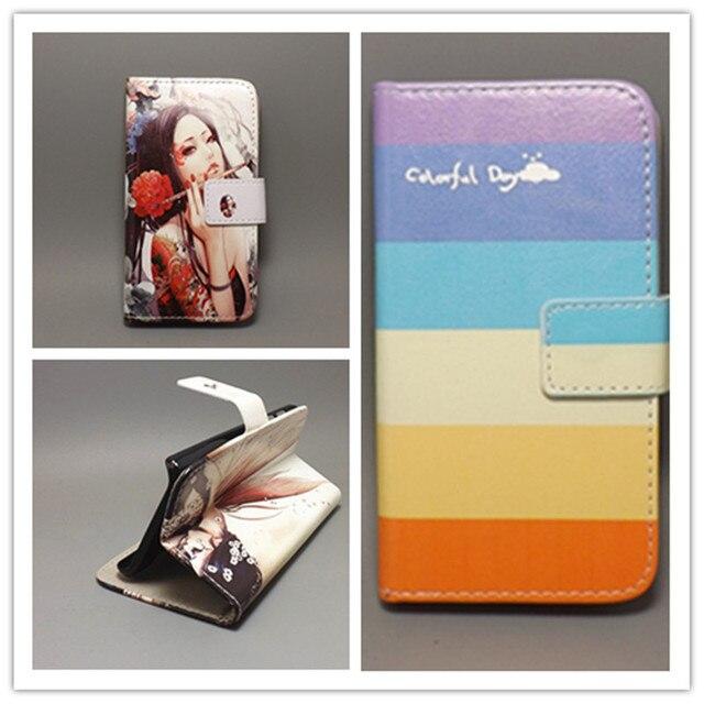 New Butterfly Flower Flag Designer Wallet Flip Stand Book Cover Case FOR ZTE Grand X V970 V970M U970 free shpping