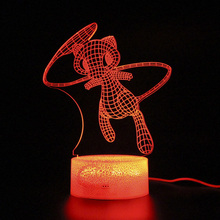 Remote Control Lamp Illusion 3D Led Light Party Decoration Touch Night Kids Sleep
