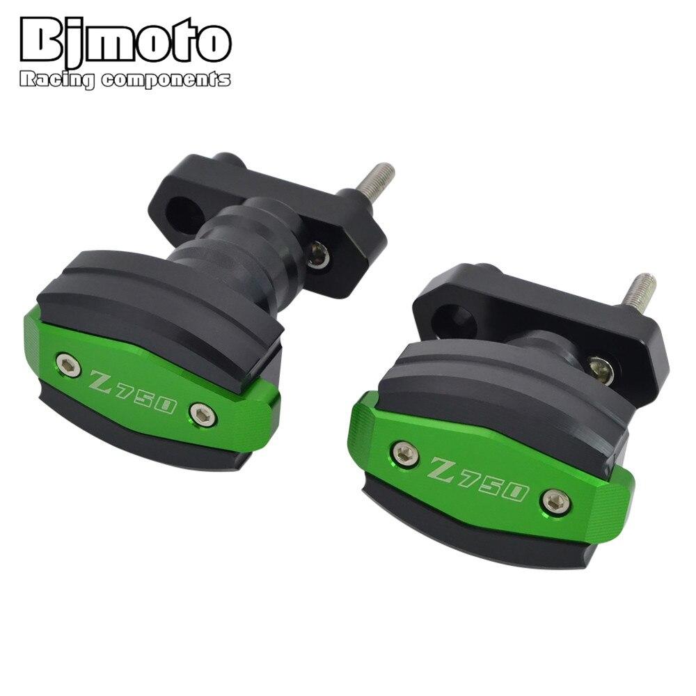 Z750R Z750 BJMOTO Para Kawasaki 2007-2012 2011-2012 Moto Sliders Bater Protector Caindo Proteção Quadro de Alumínio CNC