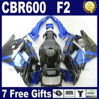 7gifts Motor fairings kit for Honda blue black 1993 1994 CBR 600 F2 1991 1992 CBR600 F 91 92 93 94 CBR600 F2 fairing set+ tank