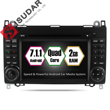 Isudar Car Multimedia Player GPS Android 7 1 1 2 Din For Mercedes Benz Sprinter W209