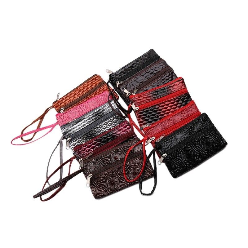 THINKTHENDO Women Girls Handbag Purse Receipt Phone Card Holder Clutch Wallet Tote Bags