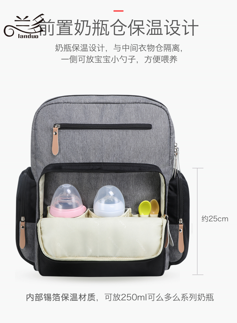 2019 LAND Mommy Diaper Bags BACKPACK Landuo Mummy Large Capacity Travel Nappy Backpacks Convenient Baby Nursing Bags 11 types