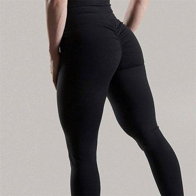 CHRLEISURE High Waist Push Up Leggings Women Jeggings Workout Fitness Legging Womens Clothes Ruched Activewear Black Leggings