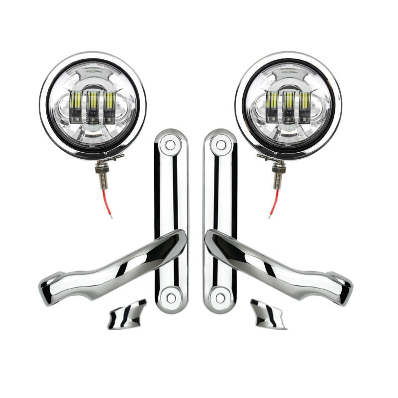 Harley accessories 4.5 inch Housing Bucket and Mounting Brackets turn signal For Harley Street Glide 4.5 Led Passing Fog Lights