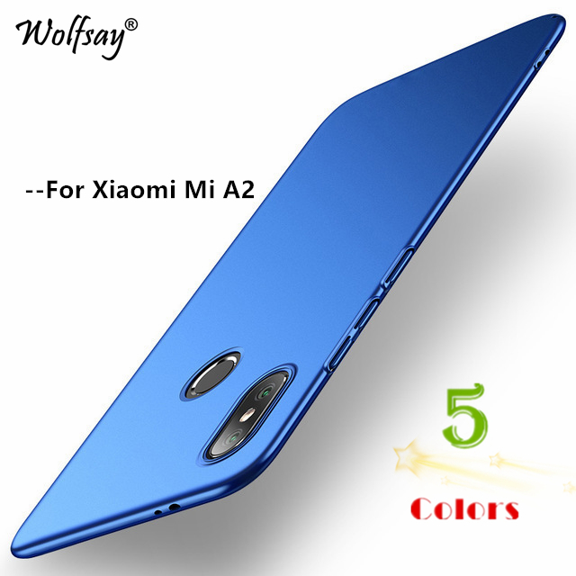 Wolfsay Cover <font><b>Xiaomi</b></font> <font><b>Mi</b></font> <font><b>A2</b></font> Case Ultra Thin PC Armor Hard Back Phone Case for <font><b>Xiaomi</b></font> <font><b>Mi</b></font> <font><b>A2</b></font> <font><b>MiA2</b></font> Cover <font><b>Xiaomi</b></font> <font><b>Mi</b></font> 6X Mi6X Coque image