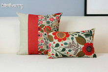Beautiful Floral Garden Pillows American Country Style Cushions For Sofas Red Cute Decorative Wholesale