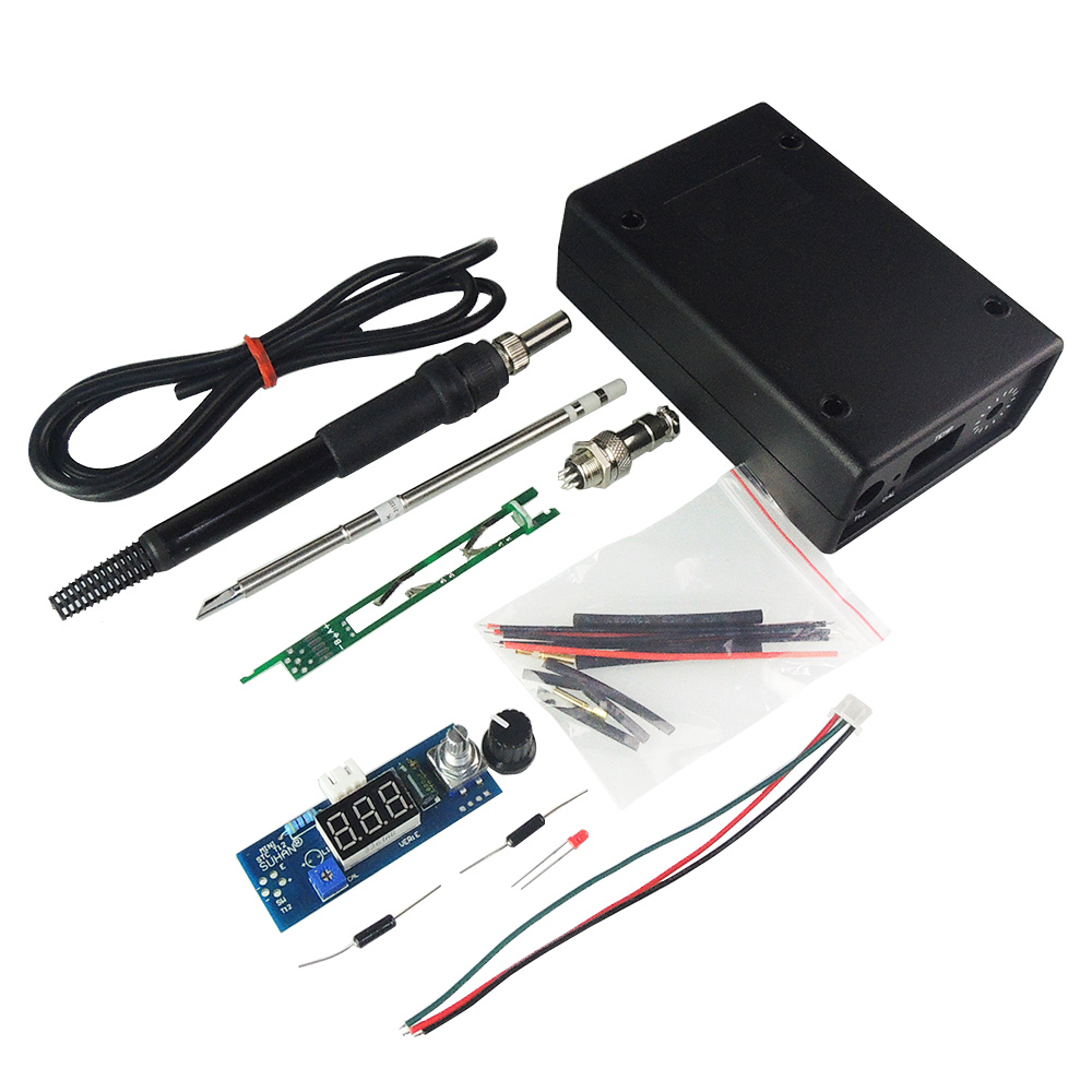 DIY Electric Unit Digital Soldering Iron Station Temperature Controller Kits For HAKKO T12 Handle Kits LED Vibration Switch  цены