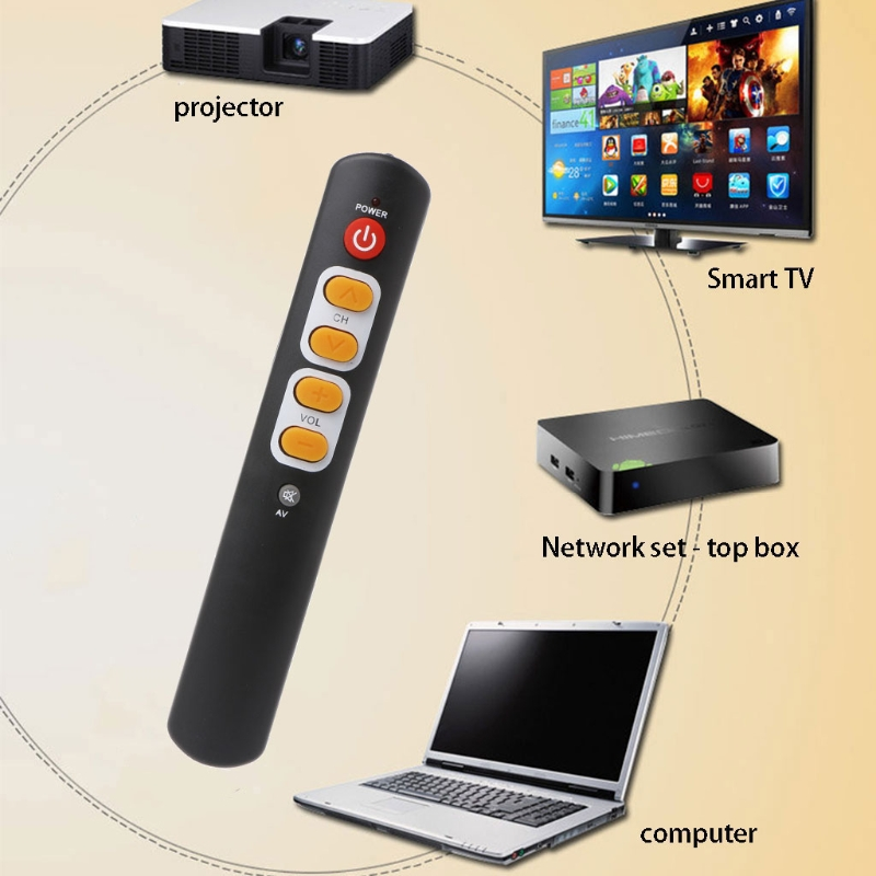 OOTDTY Universal 6-Key Smart Controller Learning Remote Control For TV STB DVD DVB HIFI