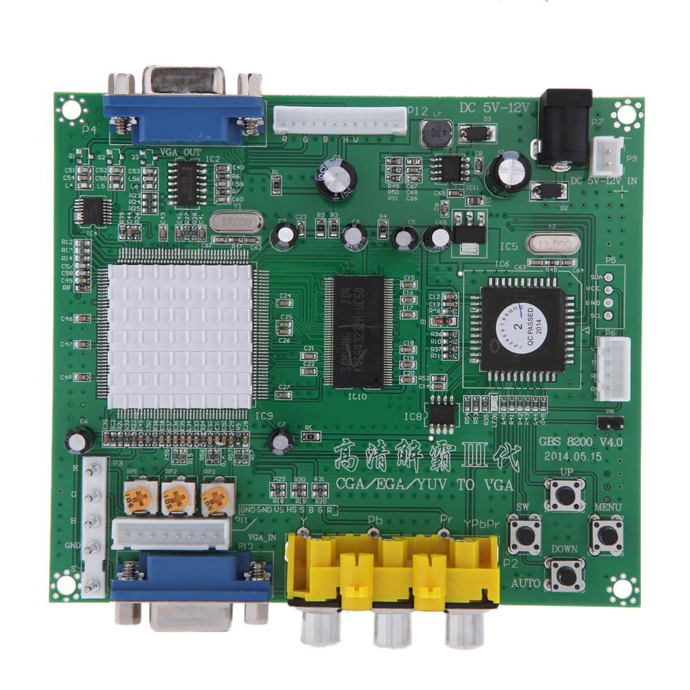 GBS8200 1 Channel Relay Module Board CGA / EGA / YUV / RGB To VGA Arcade Game Video Converter for CRT Monitor LCD Monitor PDP fast free ship for gameduino for arduino game vga game development board fpga with serial port verilog code