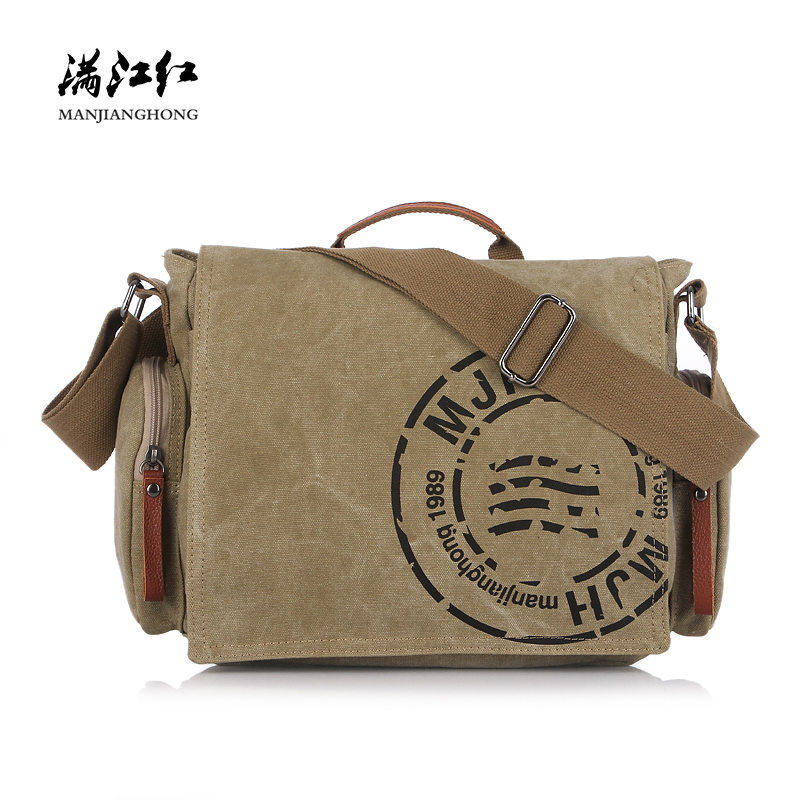 Canvas Men Messenger Bags Vintage Crossbody Shoulder Bag Man Male Satchel Casual Laptop Bag 14 inch Printing Travel Handbag1124 man casual laptop briefcase vintage canvas bags men s crossbody bag shoulder men messenger bag travel bag free shipping li 1300