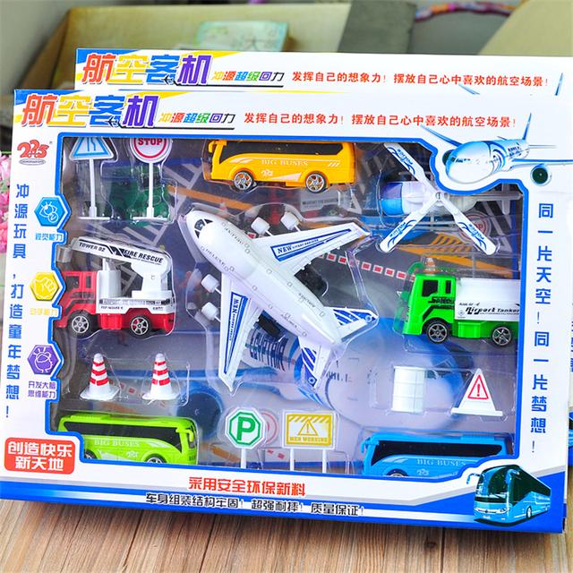 Mini a Troquel Del Coche Vehículo de Construcción Coche de Ingeniería Artificial Camión Camión De Bomberos Modelo de Avión Pequeño Tractor Juguetes Baratos de Regalo