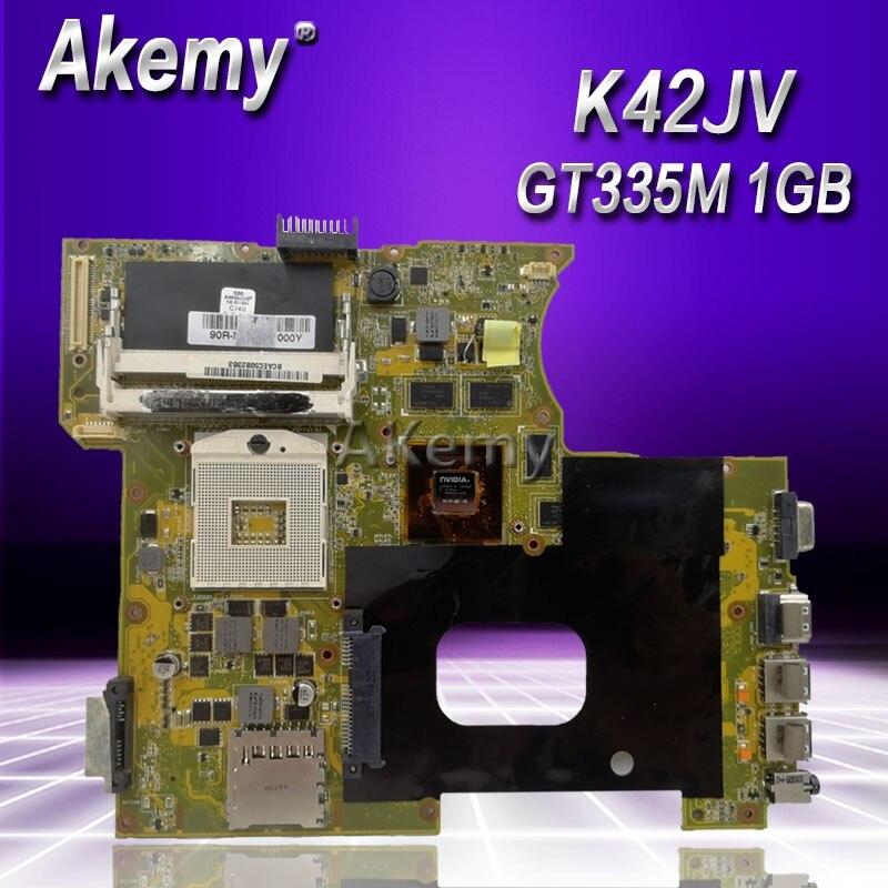 Akemy K42JV GT335M 1GB mainboard REV2 2 For ASUS A42J X42J K42J K42JR Laptop motherboard 60