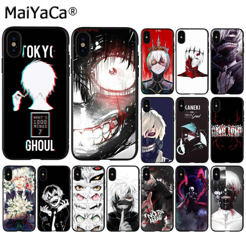 Maiyaca Tokyo Hantu Telepon Ghoul Anime Photo Ponsel Case untuk Apple iPhone 11 Pro 8 7 66S Plus X XS Max 5S SE XR Cover