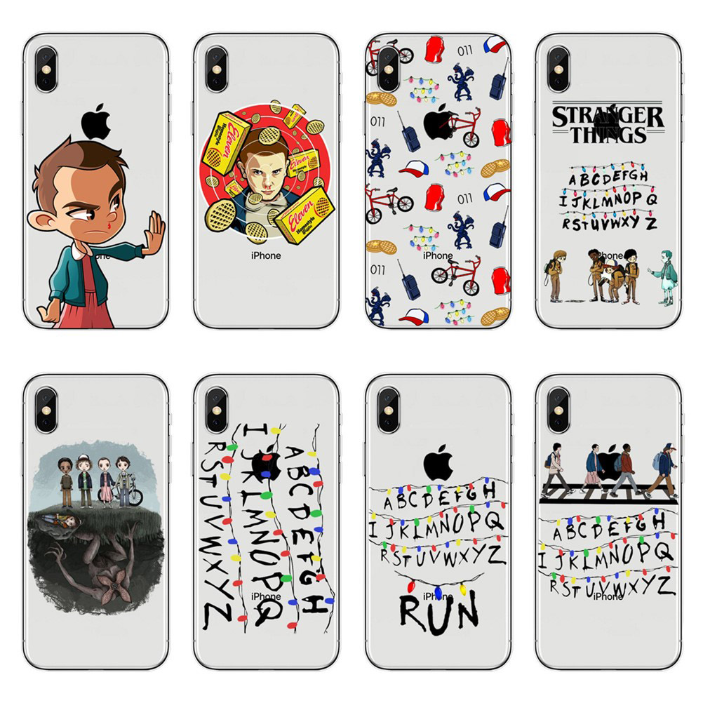 United States TV <font><b>Stranger</b></font> <font><b>Things</b></font> <font><b>Phone</b></font> <font><b>Cases</b></font> For <font><b>iPhone</b></font> X 10 7 8 Plus 6 6S Plus 7 8 5S SE <font><b>XR</b></font> XS Max Soft Silicone TPU Cover <font><b>Case</b></font> image