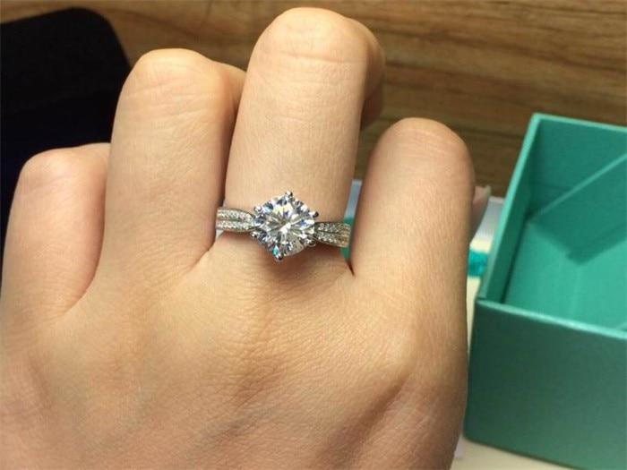 Løse penger Promotion 100% 925 Sterling Sølv Rings Smykker Luksus - Mote smykker - Bilde 6