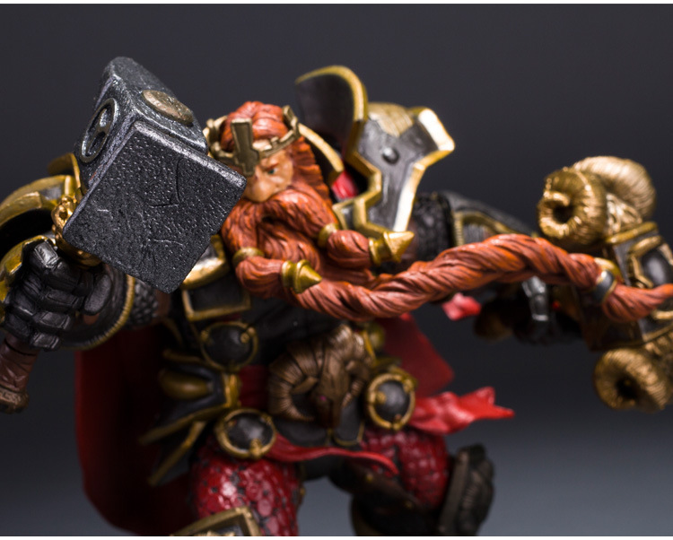 Wow DC Action Figure Unlimited Series 6 6 inch Magni Bronzebeard [Dwarven King] WOW PVC Model Figure Free Shipping GS005 1