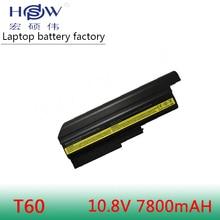 T60 laptop Battery 6600mAh for Lenovo/ IBM Thinkpad T60 R60 Z60 z61 92P1140 40Y6799 92P1138 Special Price!! все цены
