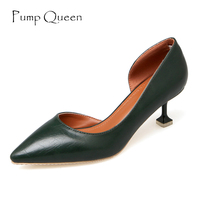 Women S Leather Pumps 5cm High Heels Pointed Toe Shoes Classic Fashion Female Pumps For Office