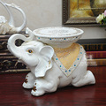 EUA casa casa de moda criativa resina de moldagem de platina flor mudando seus sapatos fezes de elefante resina presentes de Decoração Para Casa