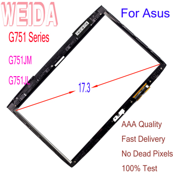цена на WEIDA Screen Replacment 17.3 For Asus G751 Series G751JM G751JL Tablet PC Touch Screen Digitizer Panel Glass