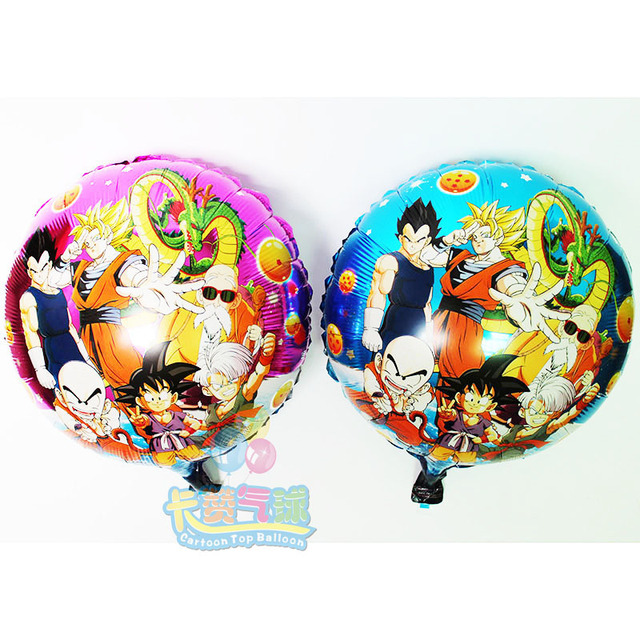 50pcs Lot Baby Birthday Decoration Dragon Ball Z Party Supplies Foil Balloons Son Goku Inflatable Ballon Kids Toys