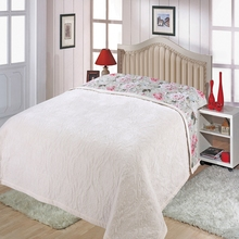 High-grade autumn and winter Fale quilted crystal velvet double-sided cotton bed cover thickening 220 * 240 bl