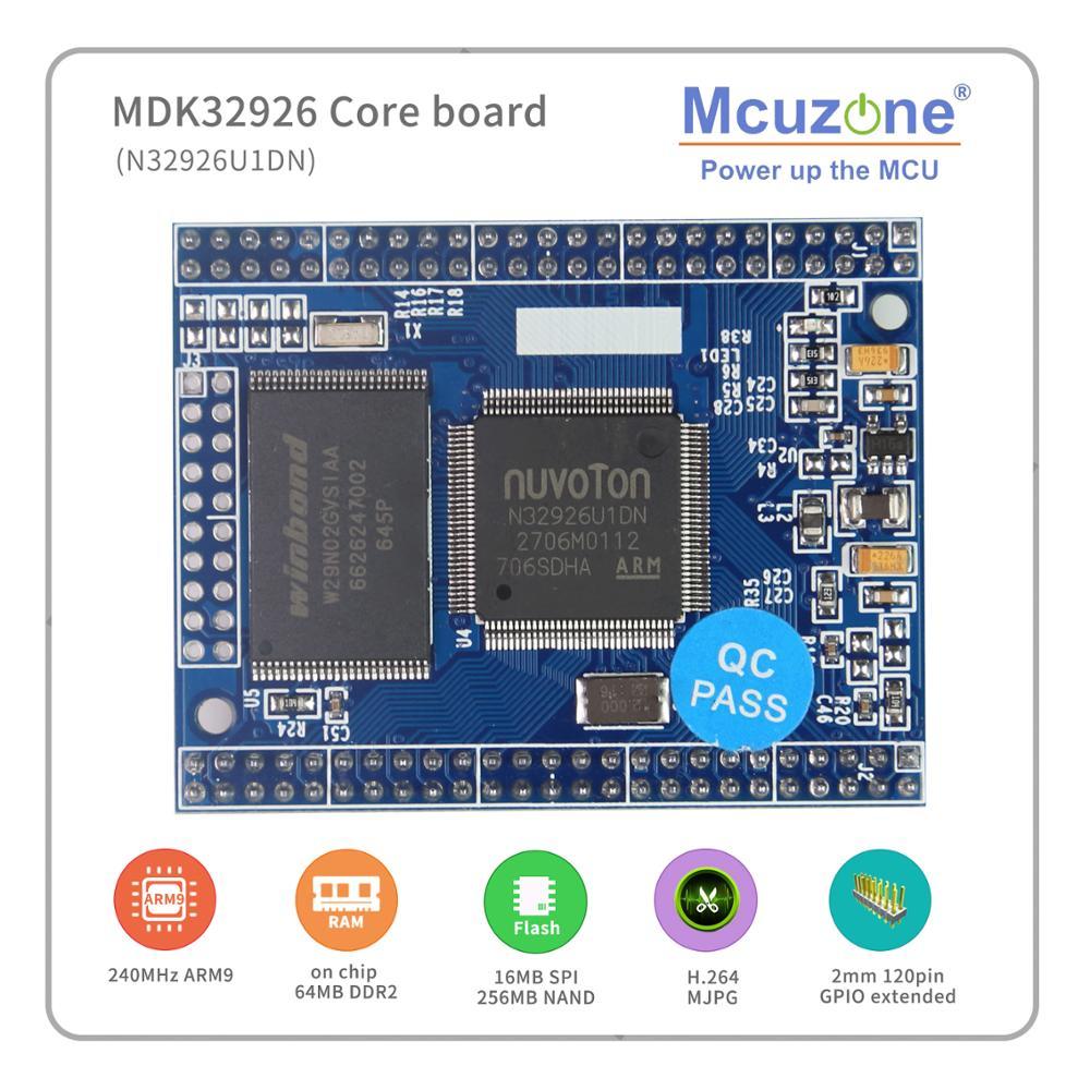 Free Shipping!MDK32926 Core Board N32926U1DN,64MB DDR2,16MB NOR,256MB NAND,Camera,MAC,JPEG, H.264 Codec, Audio, Linux HS USB