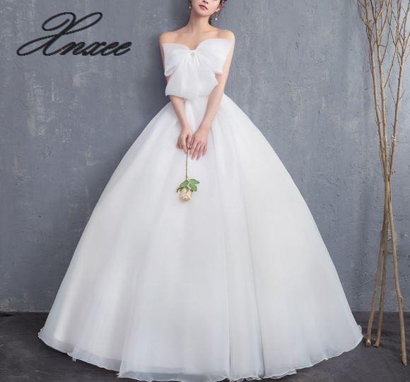 Xnxee Appliques pearls Vintage White Dresses 2019 Vestidos de Noivas