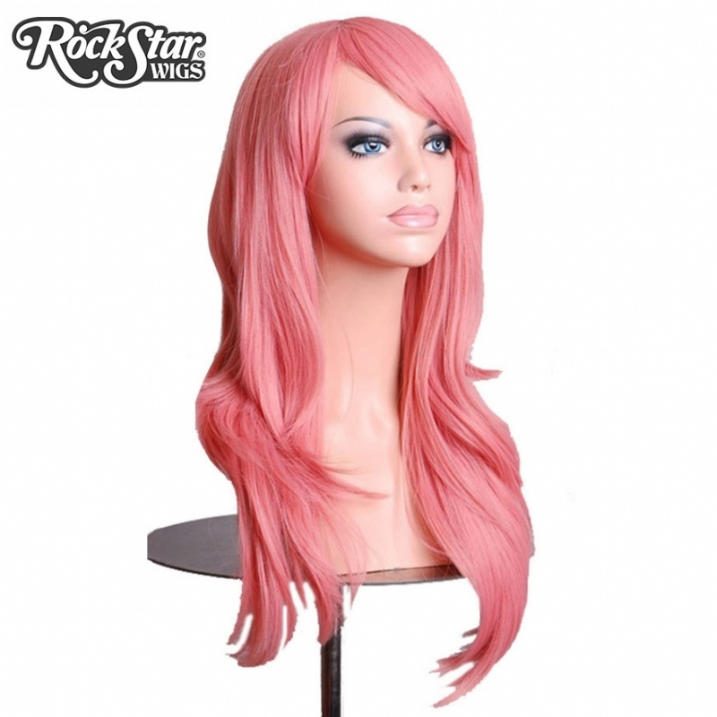 Hair extensions wigs rockstar wigs 16colors 70cm pink black womens long wavy synthetic hair cosplay wigs pmusecretfo Images