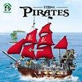 Grandes piratas 1123 unids barba negro barco pirata ladrillos bloques de construcción de juguete juego de regalo juguetes educativos para niños compatibles con lego