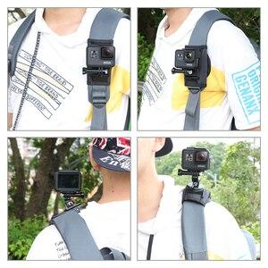 Image 5 - 更新スポーツカメラバックパッククリップマウント 360 度回転式 xiaomi 李氏は移動プロヒーロー 8 7 6 5 4 アクションカメラアクセサリー