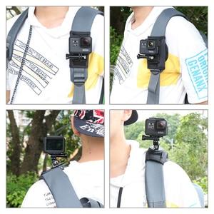 Image 5 - Mise à jour Sport caméra sac à dos pince montage 360 degrés rotatif pour Xiaomi Yi pour Gopro Hero 8 7 6 5 4 Action caméra accessoires