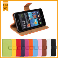 Luxury Stand Wallet Genuine Leather Case For Samsung Galaxy S2 SII I9100 Phone Bag Cover Book