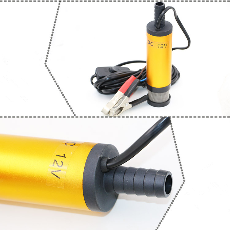 Portable Mini 12V 24V DC Electric Submersible Pump For Pumping Diesel Oil Water Aluminum Alloy Shell 12L/min Fuel Transfer Pump 3