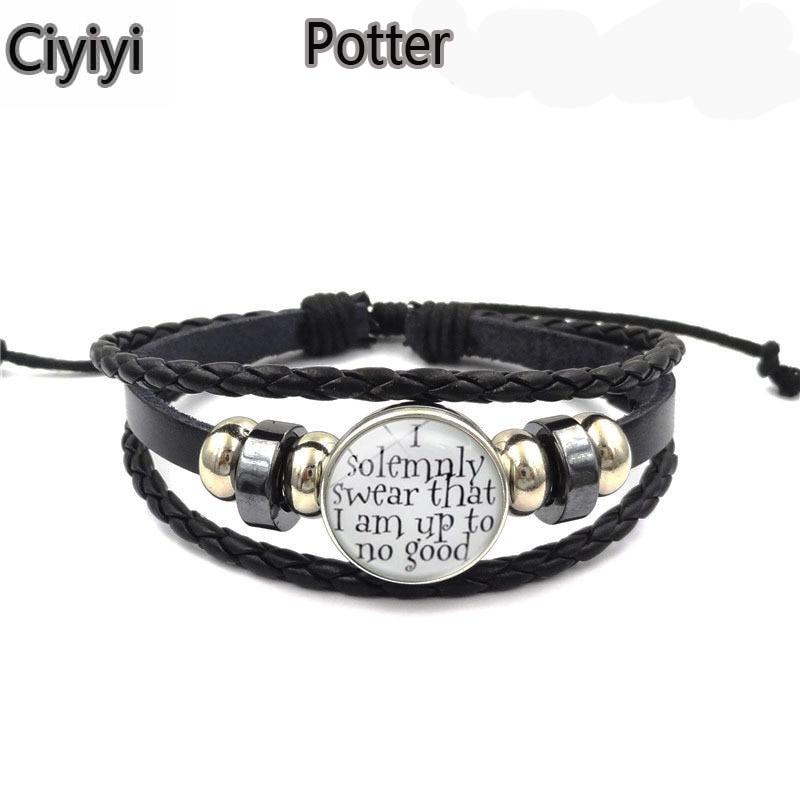 Harri Potter Magic Spell Time Gem Weave Beaded Bracelet Children Magic World Cosplay Toy Halloween Hogwarts School Party Toys