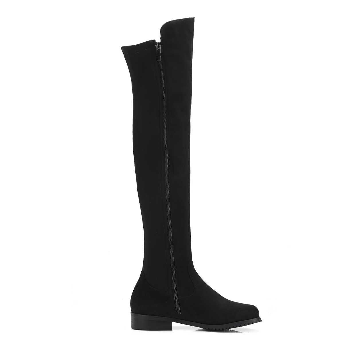 Kadın diz yüksek çizmeler kadın akın deri rahat kış çizmeler kadın uzun çizmeler siyah şarap kırmızı gri diz botları 2019 ayakkabı