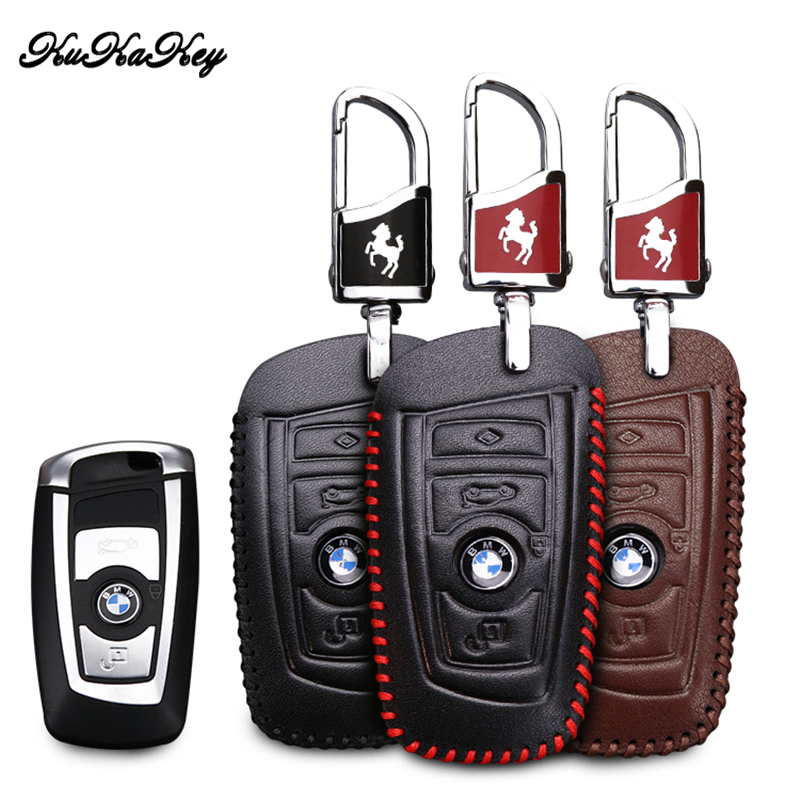KUKAKEY Car Key Case For BMW Genuine Leather Key Case For BMW F30 F20 X1 X3 X5 E30 E34 E90 E60 E36 E39 E46 Key Cover Holder leahter key holder car styling emblem wallets shell case for bmw m 1 3 5 7 series m3 m5 x1 x3 x5 e34 e36 e38 e39 e46 e30 e92 f30