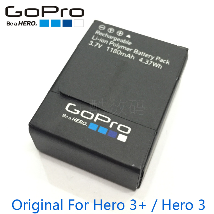 original GoPro Battery for GoPro Hero 3 Hero 3+ Go Pro go-pro hero3 hero3+ battery AHDBT-302 rechargeable batteries bateria крышки для камер gopro набор защитных крышек alcak 302