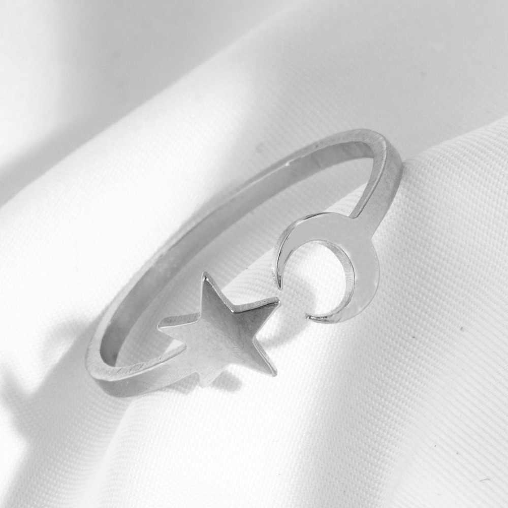 2019 หลายสไตล์แฟชั่นเงินสแตนเลสเปิดแหวนผู้หญิง Minimalist เครื่องประดับอุปกรณ์เสริมของขวัญปรับขนาดได้