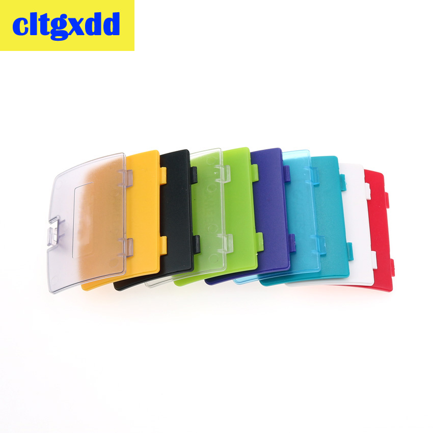 cltgxdd 2pcs For Nintendo <font><b>Game</b></font> boy <font><b>Color</b></font> GBC Battery Cover Pack Back Door Shell Replacement image