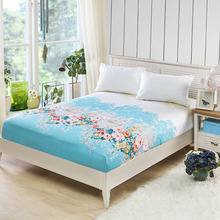 1pc Fitted Sheet Bed Cover Fashion Print Polyester Landscape Pattern 120*200/150*200/180*200cm  Height 25cm