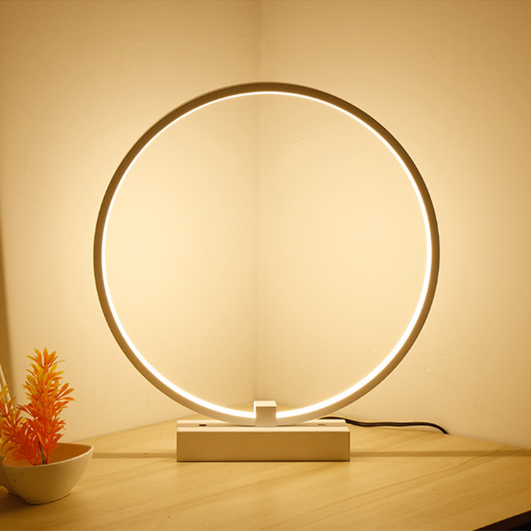 Desk Lamps Modern Simple Led Table Lamp For Bedroom Living Room Study D40cm 36w Desk Table Lamps Minimalist Bedroom Bedside Lamp Ac 220v