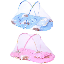 цена на Portable Baby Infants Bedding Crib Netting Mosquito Net Newborn Crib Cushion Mat Baby Sleeping Mattress with Pillow for 0-1Years