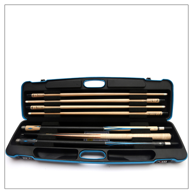 CUPPA 7 Holes Pool Cue Case Pool Stick Carrying Bag Box Billiard Kit Cue Case Durable Accessories 3 Butts 4 Shafts Password Box