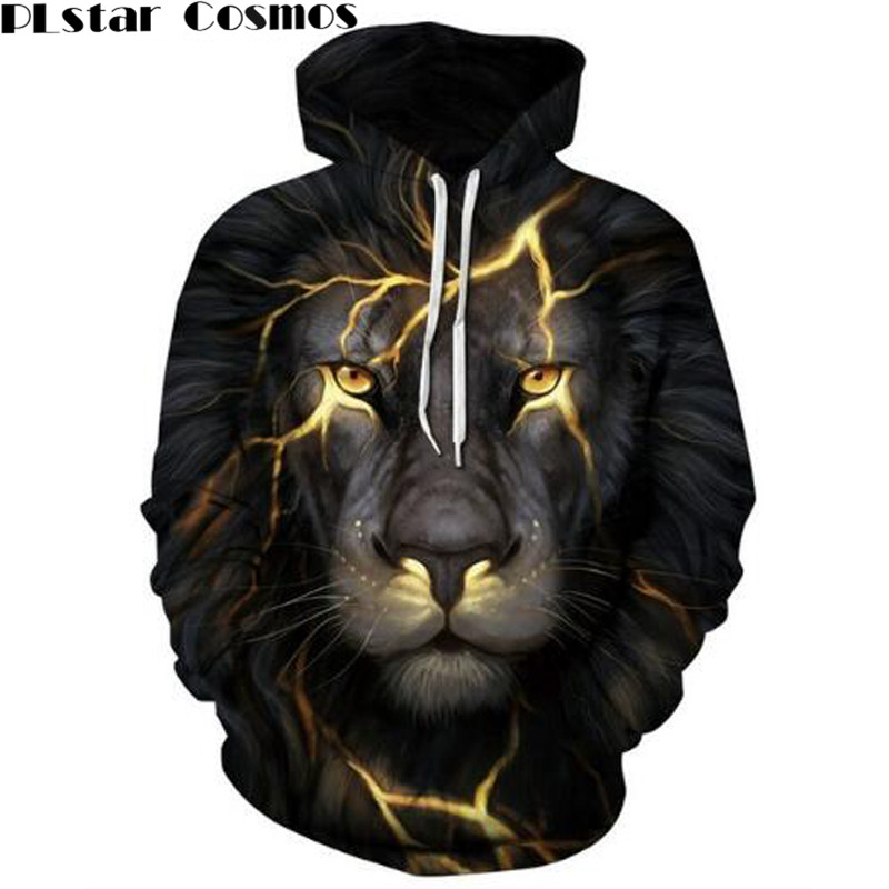 PLstar Cosmos Harajuku Wolf Lion Animals 3D All Over Print Men Women Hoodie Sweatshirt Jumper Fashion