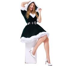 Green Europe and the United States Christmas costumes role-playing two-color girl uniforms temptati